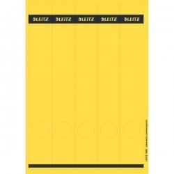 1688 PC-beschriftbare Rückenschilder - Papier, lang/schmal, 125 Stück, gelb