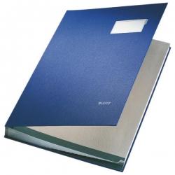 5700 Unterschriftsmappe - 20 Fächer, PP kaschiert, blau