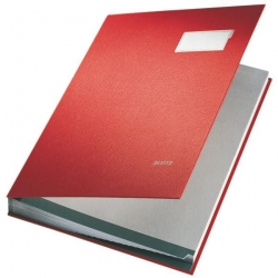 5700 Unterschriftsmappe - 20 Fächer, PP kaschiert, rot