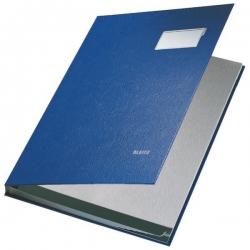 5701 Unterschriftsmappe - 10 Fächer, PP kaschiert, blau