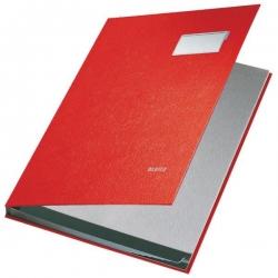 5701 Unterschriftsmappe - 10 Fächer, PP kaschiert, rot