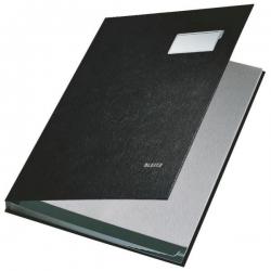5701 Unterschriftsmappe - 10 Fächer, PP kaschiert, schwarz