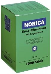 Büroklammern mit Kugelenden - 32 mm glatt, verzinkt, 1.000 Stück