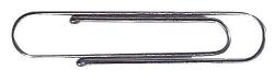 Aktenklammern mit Kugelenden - 77 mm gewellt, verzinkt, 100 Stück