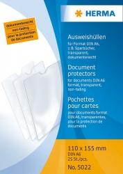 5022 Ausweishüllen 110x155 mm für Format DIN A6, Sparbücher