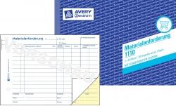 1110 Materialanforderung, DIN A5, vorgelocht, 2 x 50 Blatt, weiß, gelb