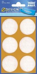 59465 Z-Design Filzgleiter rund, weiß, 35 mm,  6 Stück
