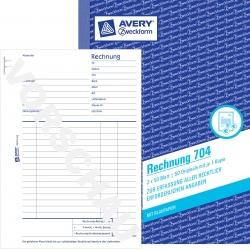 704 Rechnung, DIN A5, vorgelocht, 2 x 50 Blatt, weiß