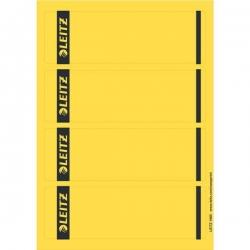 1685 PC-beschriftbare Rückenschilder - Papier, kurz/breit,100 Stück, gelb