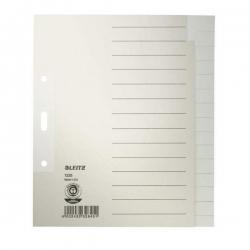 1225 Register - Tauenpapier, blanko, A5 Überbreite, 15 Blatt, grau