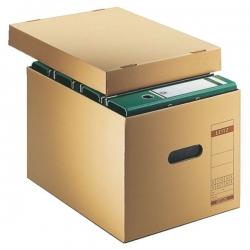 6081 Archiv-Schachtel, A4, mit Deckel, naturbraun