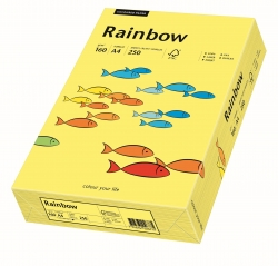 Rainbow Intensiv - A4, 160 g/qm, gelb, 250 Blatt