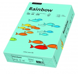 Rainbow Pastell - A4, 120 g/qm, mittelblau, 250 Blatt