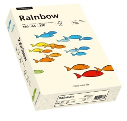 Rainbow Pastell - A4, 160 g/qm, hellchamois, 250 Blatt