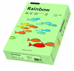 Rainbow Pastell - A4, 160 g/qm, mittelgrün, 250 Blatt