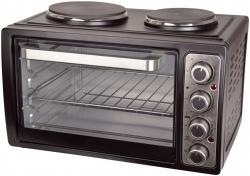 Kleinküche mit Doppelkochplatte - schwarz