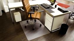 Ecoblue® Bodenschutzmatten für glatte/harte Böden - Form 0, 90 x 120 cm