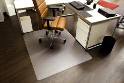 Ecoblue® Bodenschutzmatten für glatte/harte Böden - Form 0, 150 x 120 cm
