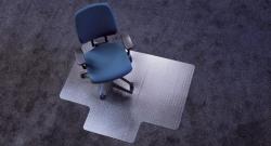 Ecoblue® Bodenschutzmatten für normalflorige Teppichböden - Form L - 150 x 120 cm