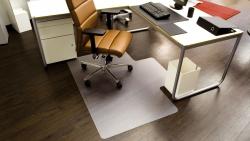 Ecoblue® Bodenschutzmatten für glatte/harte Böden - Form L, 150 x 120 cm