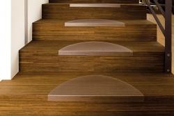 Treppenstufenmatte ECOGRIP, halbrund, 60 x 26 cm, transparent