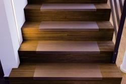 Treppenstufenmatte ECOGRIP, rechteckig, 80 x 26 cm, transparent