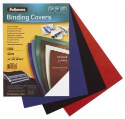 Deckblätter - Leinenstruktur, A4, schwarz, 100 Stück
