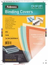 Deckblätter - A4, PVC, blau, 100 Stück