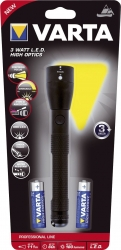Taschenlampe - 3 Watt LED High Optics Light 2AA, schwarz