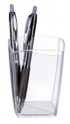 Stifteköcher Happy - glasklar, 74 x 74 x 95 mm