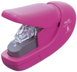 Heftgerät klammerlos - pink, bis 5 Blatt