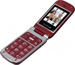 Komfort-Mobiltelefon BECCO Plus mit Großtasten und Farb-LC-Display, rot