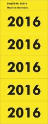 Inhaltsschild 2016 - selbstklebend, 100 Stück, gelb