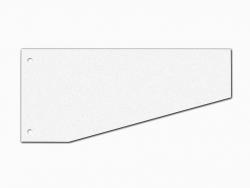 Trennstreifen Trapez - 190 g/qm Karton, weiß, 100 Stück