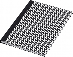 Notizbuch black&white collier - A5, Pünktchenlineatur, 96 Blatt