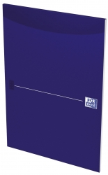 Office Briefblock - A4, blanko, blau, kopfgeleimt
