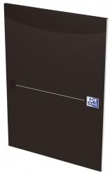 Office Briefblock - A4, liniert, schwarz, kopfgeleimt