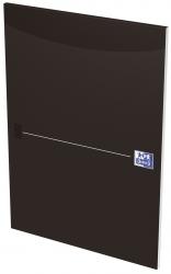 Office Briefblock - A4, kariert, schwarz, kopfgeleimt