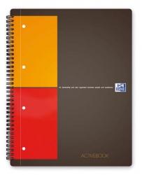 International Activebook - A5+, 5 mm kariert, 80 Blatt, Register und Dokumententasche, grau