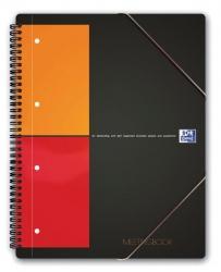 International Meetingbook - 2 in 1 Block und Gummizugmappe, A5+, kariert, 80 Blatt, grau
