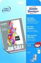 2789-40 Inkjet Flyer-Papier, DIN A4, beidseitig beschichtet - glänzend, 180 g/qm, 40 Blatt