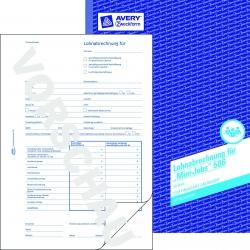 506 Lohnabrechnung für geringf. Beschäftigte, DIN A4, vorgelocht, 50 Blatt/10 Stück, weiß