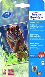 C2550-40 Premium Inkjet Fotopapier - 10x15 cm, hochglänzend, 250 g/qm, 40 Blatt