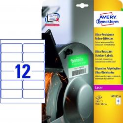 L7913-10 Ultra-Resistente Folien-Etiketten - A4, 120 Stück, 99,1 x 42,3 mm, 10 Blatt weiß