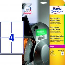 L7915-10 Ultra-Resistente Folien-Etiketten - A4, 20 Stück, 99,1 x 139 mm, 10 Blatt weiß
