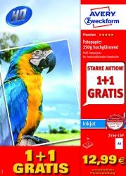 2556-15P Premium Inkjet Fotopapier - DIN A4, hochglänzend, 250 g/qm, 15 + 15 Blatt