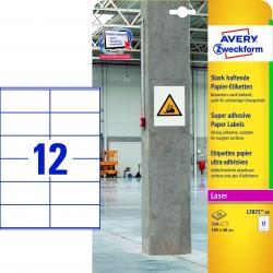 L7875-20 Papier-Etiketten - A4, 240 Stück, 105 x 48 mm, stark haftend, weiß