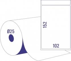 Thermoetikettrollen - 102 x 152 mm, permanent haftend, 2 Rollen =  950 Stück