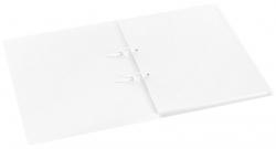 Schnellhefter mit Stripbinder - 2 Strips, 100 Blatt, transparent weiß