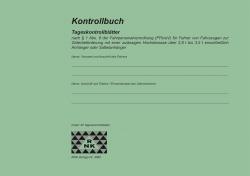 Kontrollbuch mit 30 Tageskontrollblättern, 32 Blatt, DIN A5 quer, Nummerierung
